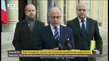 Le gouvernement propose la prolongation de l'état d'urgence - 17 attentats déjoués depuis le début de l'année selon Caze