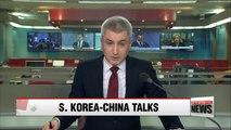 S. Korea, China vow to faithfully implement UN sanctions on N. Korea