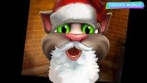 Rain Rain Go Away kids poem rhymes Talking Tom cat Santa singing