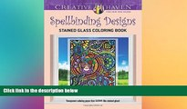 Price Creative Haven Spellbinding Designs Stained Glass Coloring Book (Adult Coloring) Maxine