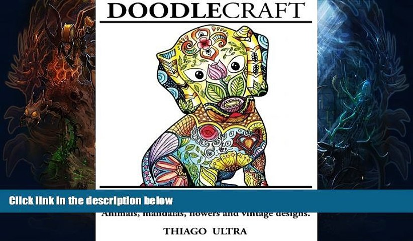 Price DoodleCraft - Adult Coloring Book: Animals, Mandalas, Flowers and Vintage Designs for Stress