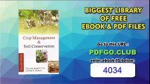 Crop Management and Soil Conservation