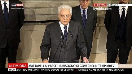 Sergio Mattarella - Conferenza Stampa in diretta dopo le consultazioni