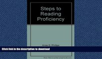 Pre Order Steps to reading proficiency: Preview skimming, rapid reading, skimming and scanning,