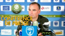 Conférence de presse Chamois Niortais - Havre AC (1-1) : Denis RENAUD (CNFC) - Oswald TANCHOT (HAC) - 2016/2017