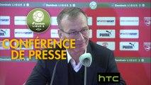 Conférence de presse Nîmes Olympique - Stade Brestois 29 (1-2) : Bernard BLAQUART (NIMES) - Jean-Marc FURLAN (BREST) - 2016/2017