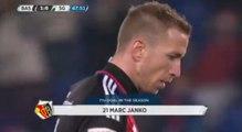 Marc Janko Goal - FC Basel 1893 1-0 FC St.Gallen 1879 (10.12.2016) - Swiss Supeer League