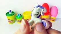 Play Doh SURPRISE EGGS My Little Pony - Surprise Eggs Unboxing - Learn Colors Rainbow Dash