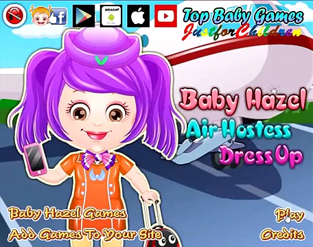 Baby Hazel Games | Dress up Games – Air Hostess | Baby Games | Free Games | Games for Girls