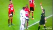 Carton rouge direct de Ramy Bensebaini vs Lyon devant Leekens