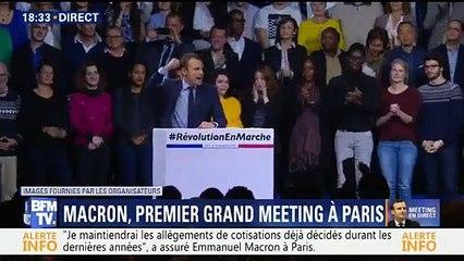 Emmanuel Macron se lâche lors de son grand meeting
