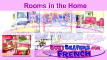 """Rooms in the Home"" (French Lesson 10) CLIP – Bedroom Bathroom, Chambre Salle de Bain, House Words"