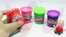 Play DOh frozen & Peppa Pig Toys! - Make playdoh Tubs Modelling Clay Learn Colors