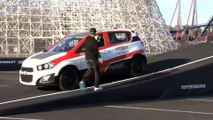 ► The farthest reverse ramp jump by a car - GUINNESS WORLD RECORDS - Chevy Sonic