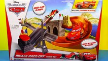 new Cars 2 Rivals Race Off Track Set Disney Pixar Cars Lightning Mcqueen New Toys Review