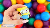 BALL PIT SHOW Learning Colors Surprise Toys Play Doh Minions Thomas Peppa Pig RainbowLearning