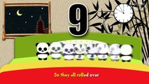 Ten Pandas In The Bed | Ten In The Bed Nursery Rhymes Cartoon Animation Songs With Lyrics