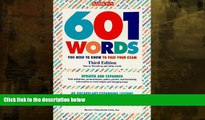 Buy NOW  601 Words You Need to Know to Pass Your Exam (Barron s 601 Words You Need to Know to Pass