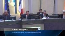 Session publique du Conseil départemental de l'Hérault (12 décembre 2016)