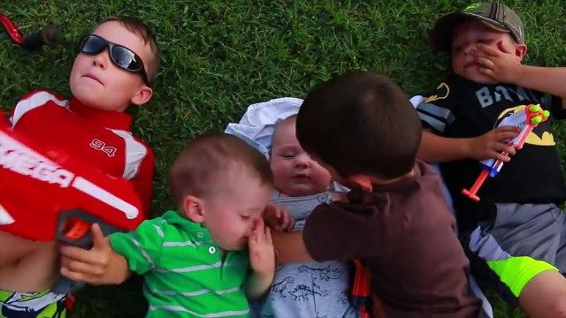 Injury Water Beach Fun ~ Tragic Dino HURT Pounded By HUGE WAVE Family Fun 5 Kids Day