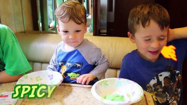 FOOD PRANK! HOT SPICY Prank Kids EAT WASABI Jello Pudding Challenge April Fools Joke Ideas