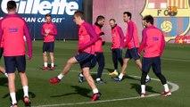 FC Barcelona training session: Barça train before trip to Doha