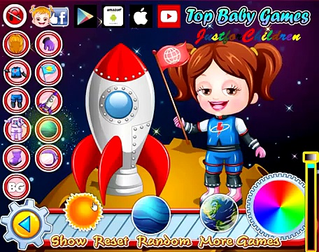 Baby Hazel Games | Dress up Games – Astronaut | Baby Games | Free Games | Games for Girls