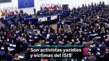 Entrega del Premio Sajarov en el Parlamento Europeo a dos activistas yazidíes y víctimas del ISIS