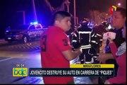 Miraflores: joven choca auto en supuesta carrera de 'piques'