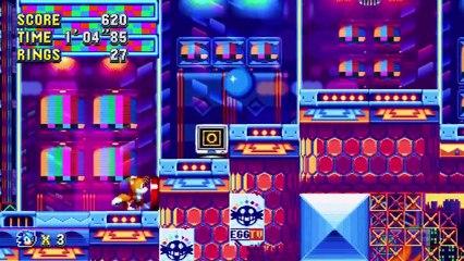 Sonic Mania - Gameplay sur Studiopolis Act 1 de Sonic Mania