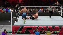 WWE RAW 14 - John Cena & Roman Reigns vs Brock Lesnar & Big Show - WWE RAW Full