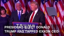 Trump slated to pick Exxon CEO Rex Tillerson for secretary of state