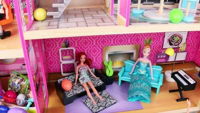 Surprise Eggs & Surprise Toys DOLLHOUSE ❤ Shopkins Frozen Elsa Anna DisneyCarToys