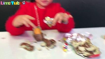Giant Sansa Surprise Egg Mukbang자이언트 산타 서프라이즈 에그 먹방 장난감 놀이 -뽀로로 타요 장난감 애니 машинки - LimeTube & Toy