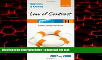 Pre Order Q and A: Law of Contract 2007 - 2008 (Blackstone s Law Questions and Answers) Adrian