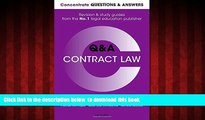 Pre Order Concentrate Questions and Answers Contract Law: Law Q A Revision and Study Guide