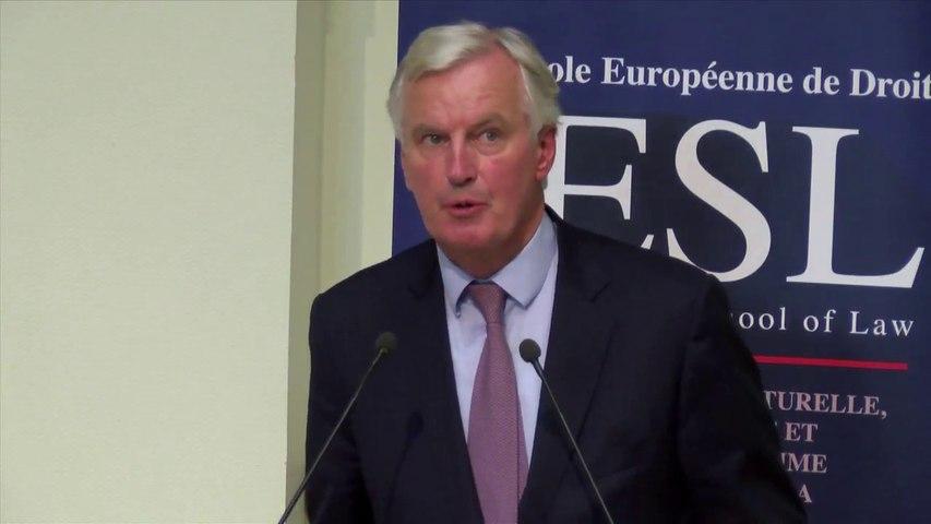 ESL Day 2016 - Rentrée solennelle_05-Michel Barnier, Négociateur en chef de la Commission sur la sortie du Royaume-Uni de l'Union Européenne, Conseiller spécial du Président de la Commiss° Européenne pour la sécurité et la défense, parrain de la promotion