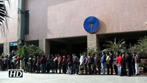Long queues at banks ATMs after long weekend