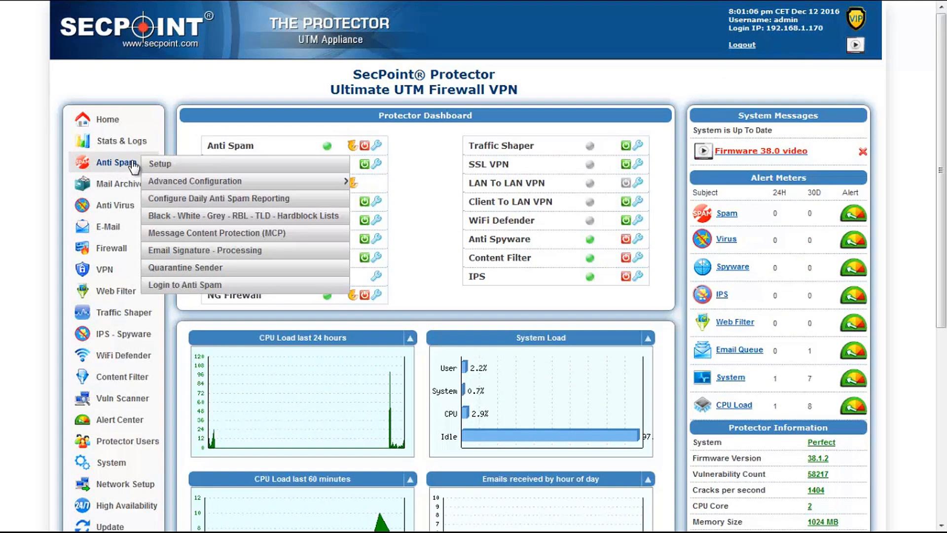 Protector 64 Bit Firewall – Anti Spam – Grey List
