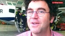 Aéroport Brest-Bretagne. Les pompiers de l'aéroport en exercice