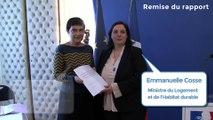 Emmanuelle Cosse a reçu le rapport sur la mise en œuvre du Droit au logement opposable (DALO) dans les territoires