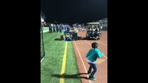 Crowd loses it after toddler shows off epic dance moves