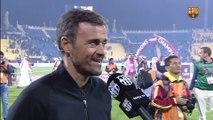 """""""Luis Enrique i Robert Fernández valoren el partit a Qatar"""""""