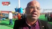 كوبرى الرسوة العائم على قناة السويس حصيلة جهد 1000 عامل مصرى