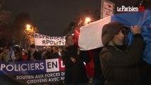 Première manifestation légale des policiers à Paris