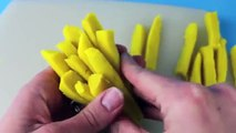 Play Doh McDonalds Fries How To Tutorial Play Dough McDonalds French Fries with 2 cans of