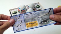 Airbus Kinder Surprise Eggs - Kinder Airbus Exclusive for Travellers Collection Toys Review