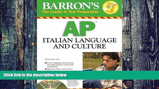 Pre Order Barron s AP Italian Language and Culture: with Audio CDs S. Ghelli On CD