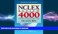 READ NCLEX® Review 4000: Study Software for NCLEX-RN® (Individual Version) (NCLEX 4000) On Book