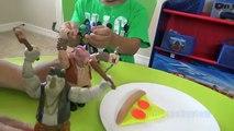 Teenage Mutant Ninja Turtles Pizza War Giant Leonardo Mutation Play Set Play doh Kids Video